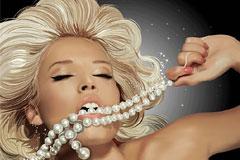 AI格式金发美女和珍珠矢量素材