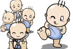 多款不同姿态的超可爱卡通宝宝矢量素材
