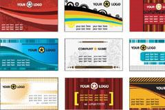 多款欧美风格卡片模板矢量素材