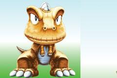 一款超可爱的漫画小恐龙矢量素材