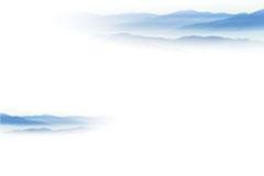 一幅优美淡雅的水墨山水画矢量素材