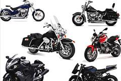 超酷摩托车矢量素材