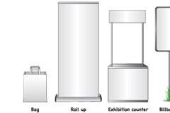 各种户外大型空白广告牌矢量素材