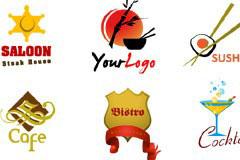 多款可爱logo设计矢量素材