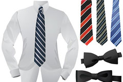 男士衬衣领带皮带矢量素材