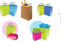 时尚手提袋购物袋矢量素材