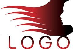 一款主题鲜明的美发店logo矢量素材