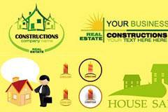 多款精致的房地产logo设计矢量素材