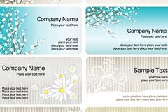 多款实用素雅花卉卡片模板矢量素材
