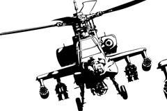 超酷阿帕奇直升机矢量素材