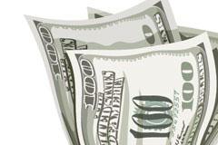 反应金融危机主题的美元与腰带矢量素材