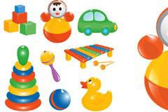 多款可爱的儿童玩具矢量素材