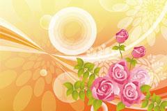 梦幻玫瑰矢量素材