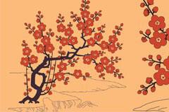 中国古典梅花图矢量素材