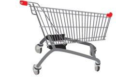 超市购物车矢量素材