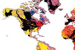 五彩缤纷的世界地图矢量素材