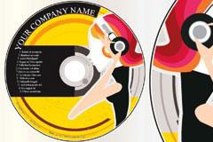 一款潮流CD封面设计矢量素材