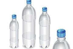 空饮料瓶矢量素材