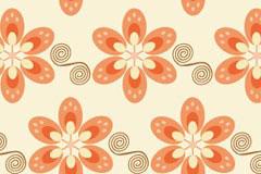 色彩明快的时尚花朵背景矢量素材