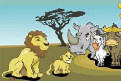 狮子王搞怪卡通矢量素材