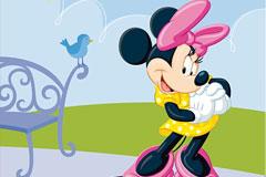 Disney卡通可爱的米妮矢量素材
