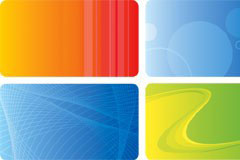 几款流行实用卡片背景矢量素材