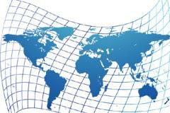 立体动感扭曲世界地图矢量素材