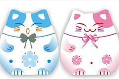 可爱的日本招财猫矢量素材