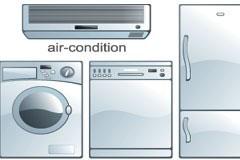 几款家庭常用电器矢量素材