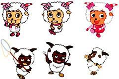 喜羊羊与灰太狼经典卡通形象矢量