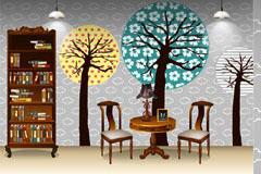 流行室内家居装饰矢量素材