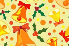 充满节日气氛的圣诞节元素背景矢量素材