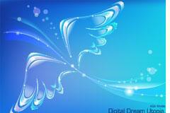 梦幻翅膀背景矢量素材