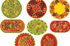 多款中国古典花纹器皿矢量素材