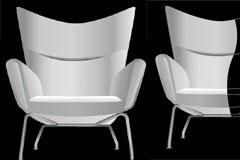 3D风格时尚座椅矢量素材