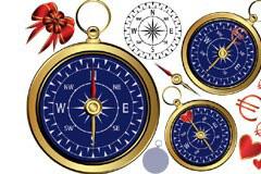 爱心指南针矢量素材