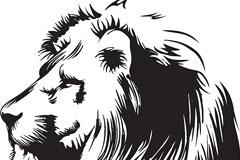 一款威武的雄狮头像矢量素材