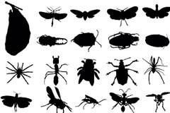 各种AI格式昆虫剪影矢量素材