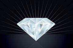光芒璀璨的大钻石矢量素材
