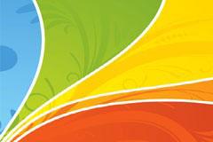 五彩色块花纹网点背景矢量素材