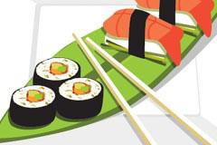 美味的日本寿司矢量素材