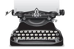 一款怀旧风格的老式打字机矢量素材