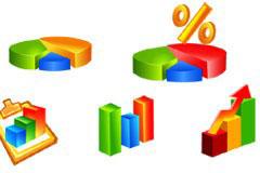 多款实用数据统计图表矢量素材