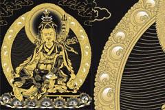 藏传佛教传统人物莲花生大师矢量素材