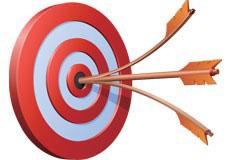 逼真的箭靶和箭矢量素材
