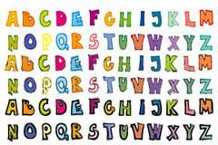 可爱的英文字母矢量素材