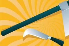 斧头和砍刀矢量素材