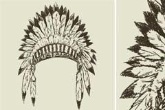 印第安部落首领帽子矢量素材