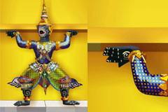 一款彩色泰国传统神像矢量素材