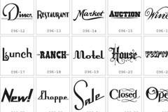 多款精美的英文单词字体设计矢量素材